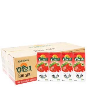 Thùng 48 hộp nước dâu sữa Vfresh 180ml