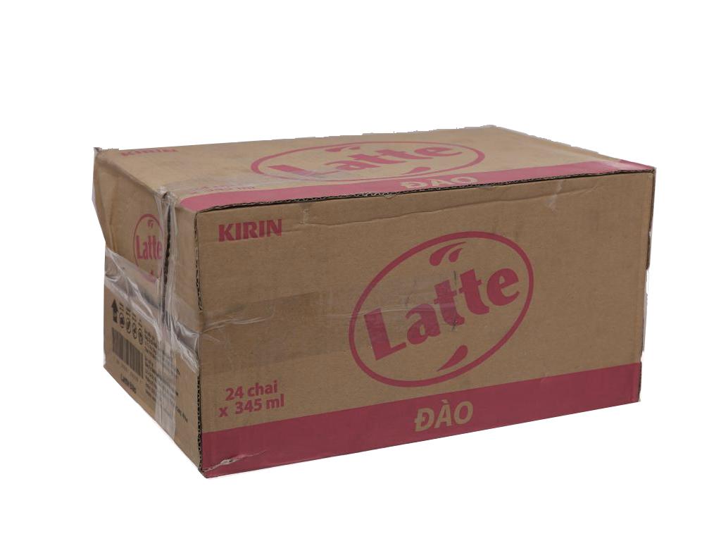 Thùng 24 chai thức uống thiên nhiên pha sữa Latte đào 345ml 1