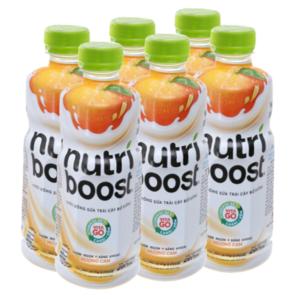 6 chai sữa trái cây Nutriboost hương cam 297ml