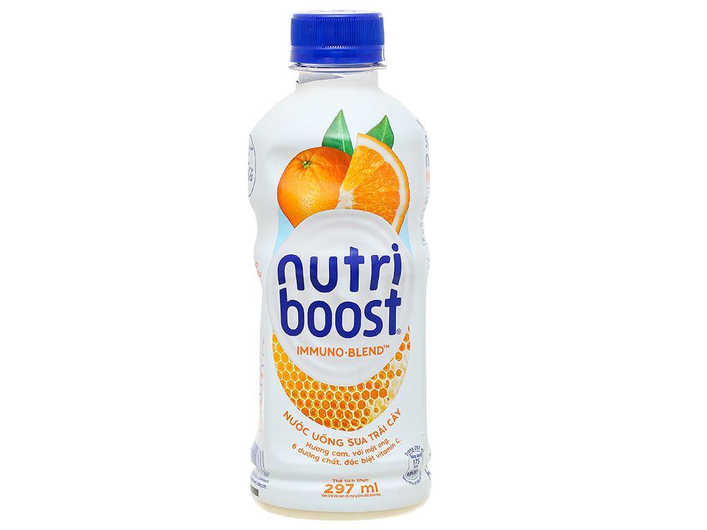 Lốc 6 chai sữa trái cây Nutriboost hương cam 297ml 2