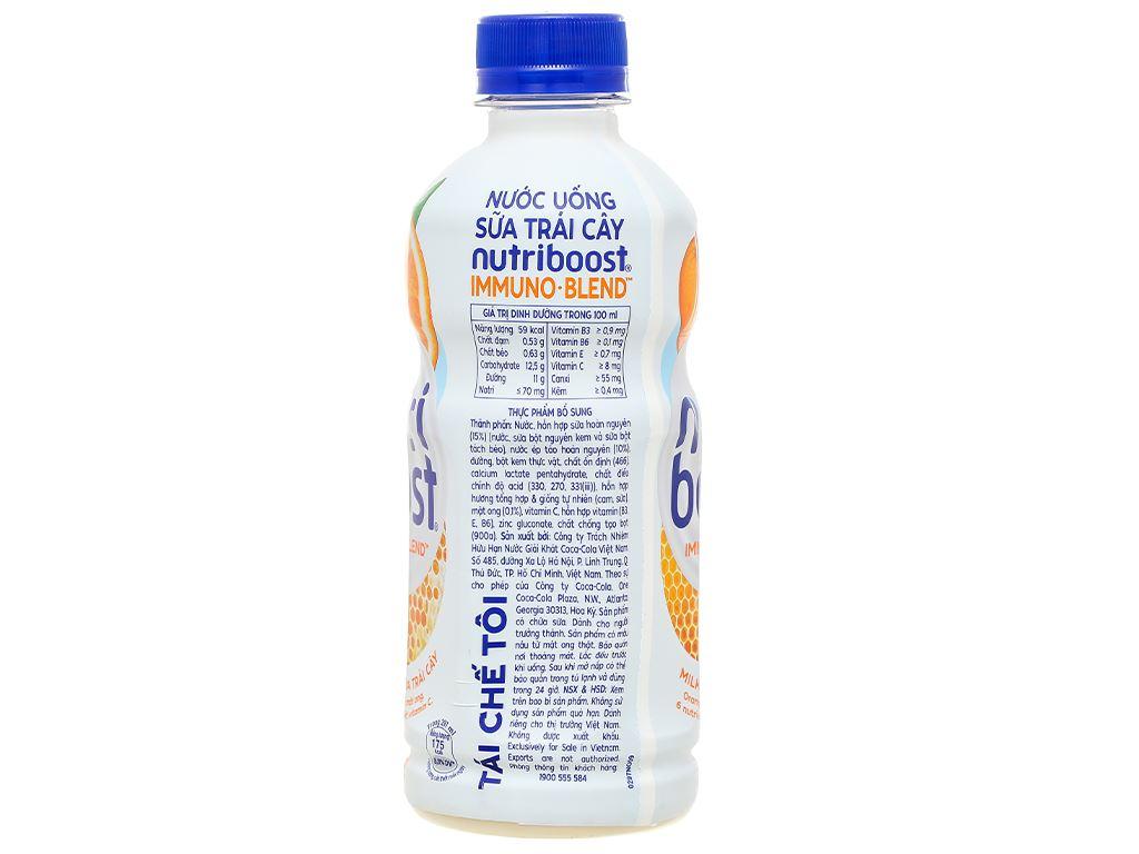 Lốc 6 chai sữa trái cây Nutriboost hương cam 297ml 3