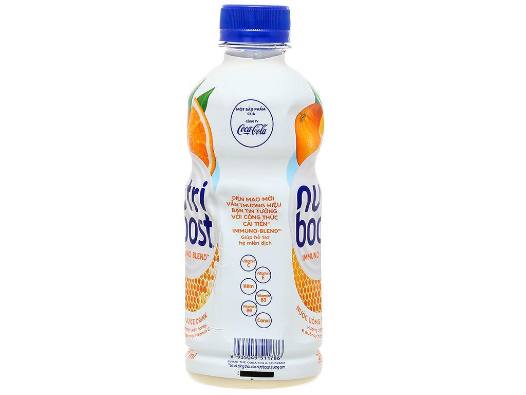 Lốc 6 chai sữa trái cây Nutriboost hương cam 297ml 4