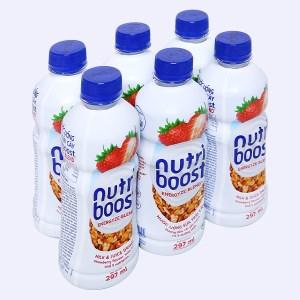 6 chai sữa trái cây Nutriboost hương dâu 297ml