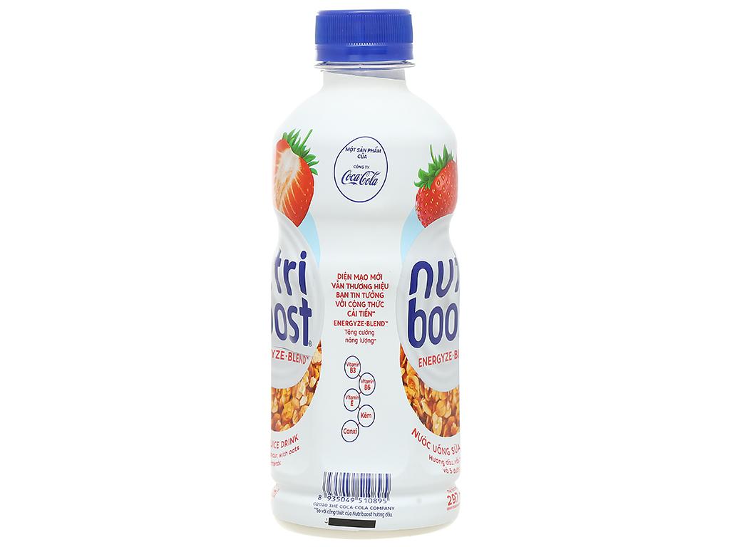 6 chai sữa trái cây Nutriboost hương dâu 297ml 3