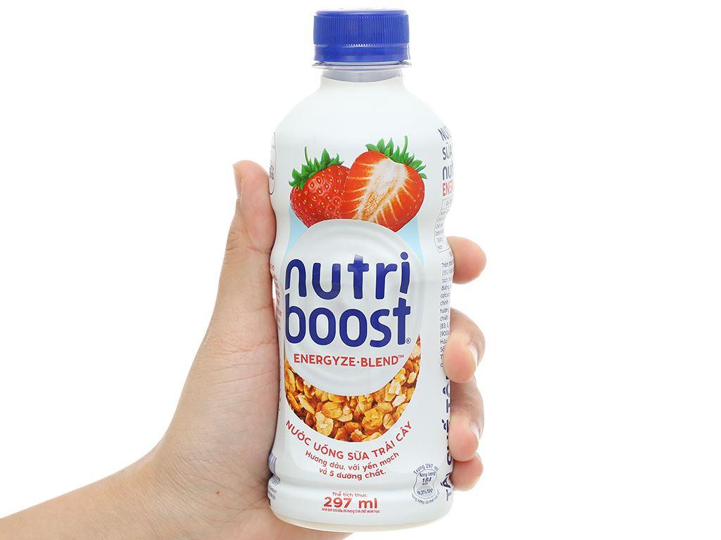 6 chai sữa trái cây Nutriboost hương dâu 297ml 6