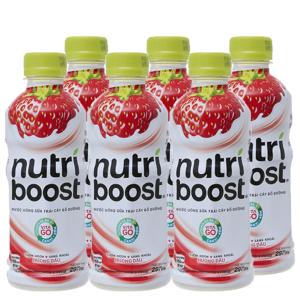 Lốc 6 chai sữa trái cây nutriboost hương dâu 297ml