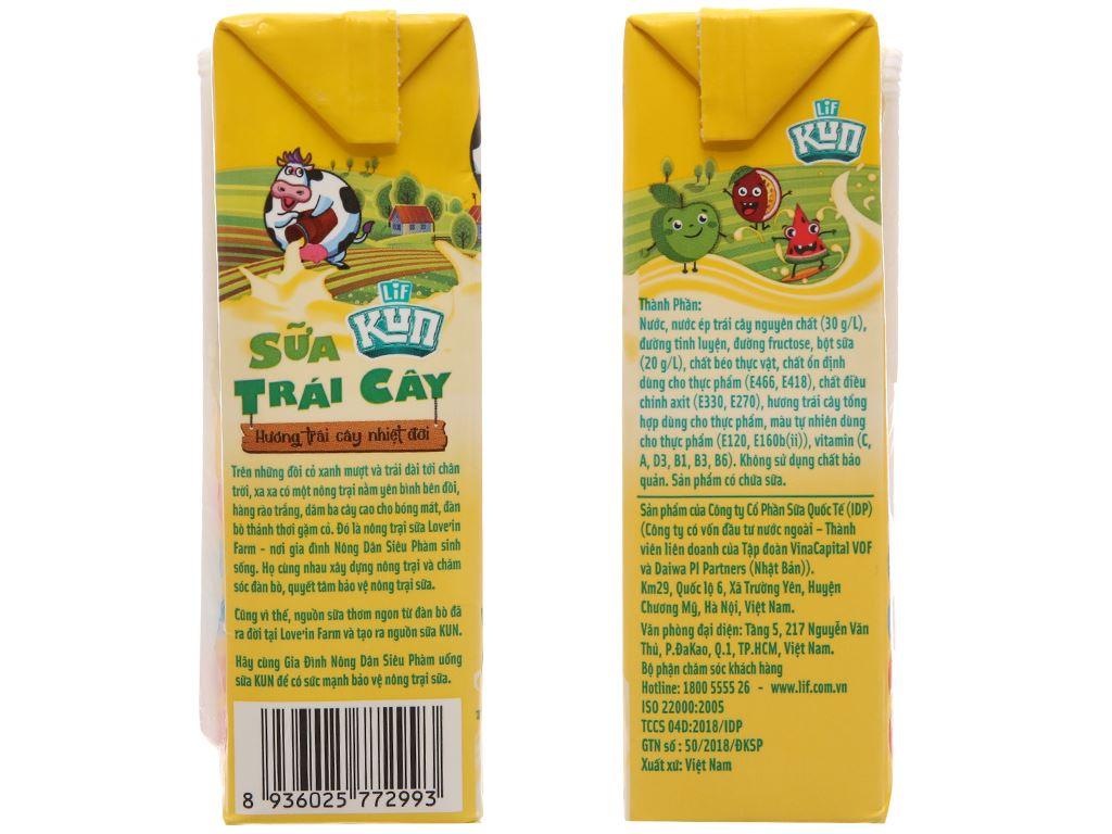 Sữa trái cây LiF Kun trái cây nhiệt đới 180ml 3
