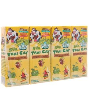 Lốc 4 hộp sữa trái cây LiF Kun hương trái cây nhiệt đới 180ml