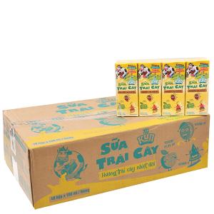 Thùng 48 hộp sữa trái cây LiF Kun hương trái cây nhiệt đới 180ml