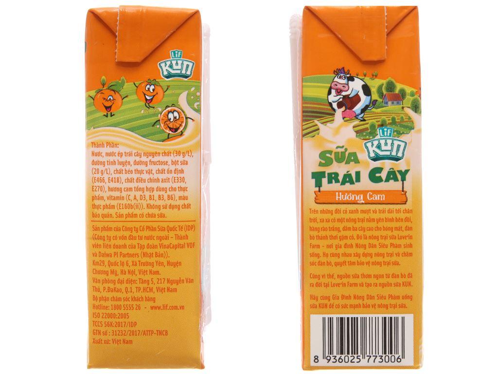 Sữa trái cây LiF Kun hương cam 180ml 3