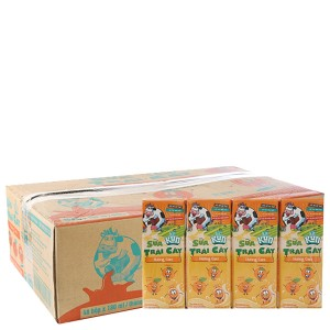 Thùng 48 hộp sữa trái cây LiF Kun hương cam 180ml