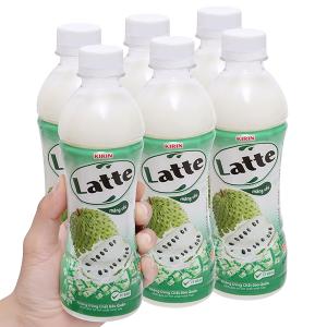6 chai thức uống thiên nhiên pha sữa Latte mãng cầu 345ml