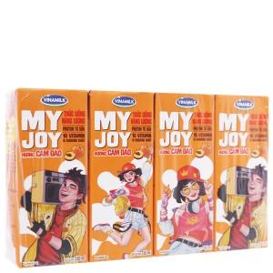 Lốc 4 hộp thức uống năng lượng Vinamilk My Joy hương cam đào 180ml