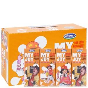 Thùng 48 hộp thức uống năng lượng Vinamilk My Joy hương cam đào 180ml