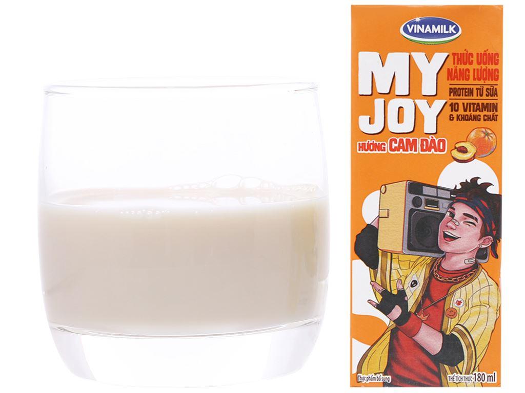 Thùng 48 hộp thức uống năng lượng Vinamilk My Joy hương cam đào 180ml 5