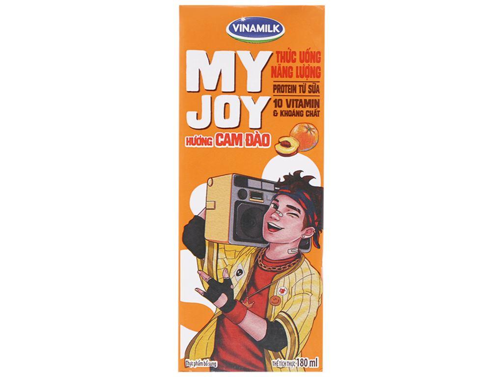 Thùng 48 hộp thức uống năng lượng Vinamilk My Joy hương cam đào 180ml 2