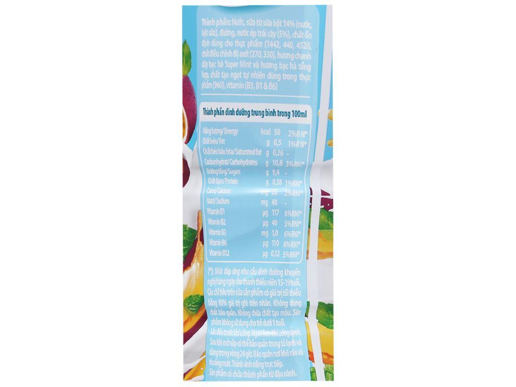 Thùng 24 chai nước uống sữa trái cây YoMost hương chanh dây & bạc hà 270ml 4
