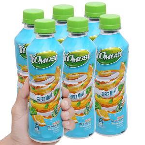 6 chai nước uống sữa trái cây YoMost hương cam & bạc hà 270ml