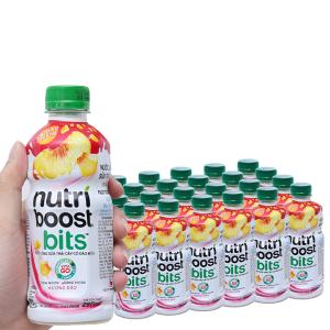 Thùng 24 chai sữa trái cây Nutriboost hương đào có đào miếng 297ml