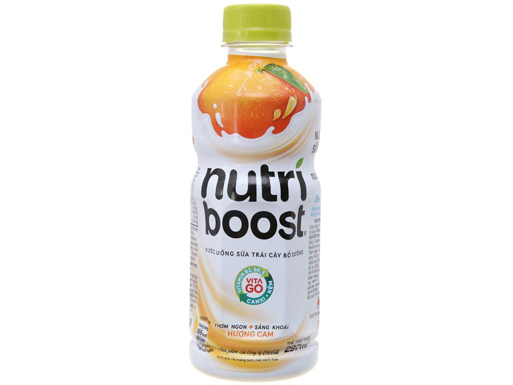 Thùng 24 chai sữa trái cây Nutriboost hương cam 297ml 2