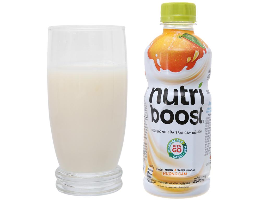 Thùng 24 chai sữa trái cây Nutriboost hương cam 297ml 3