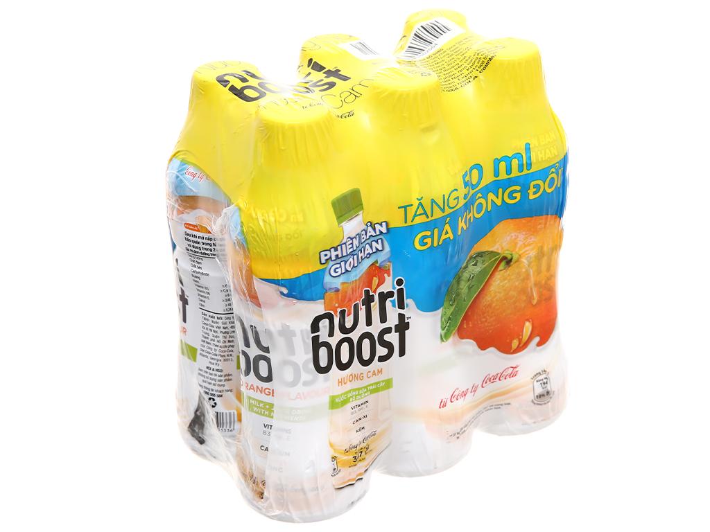 Thùng 24 chai sữa trái cây Nutriboost hương cam 297ml 8