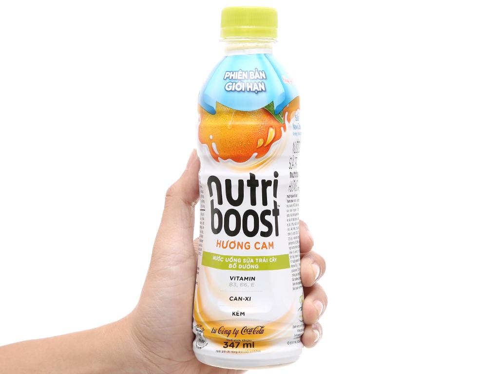 Thùng 24 chai sữa trái cây Nutriboost hương cam 297ml 16