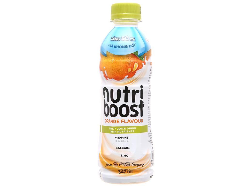 Thùng 24 chai sữa trái cây Nutriboost hương cam 297ml 11