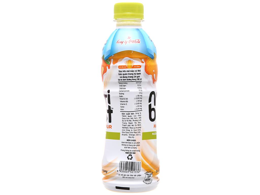 Thùng 24 chai sữa trái cây Nutriboost hương cam 297ml 13