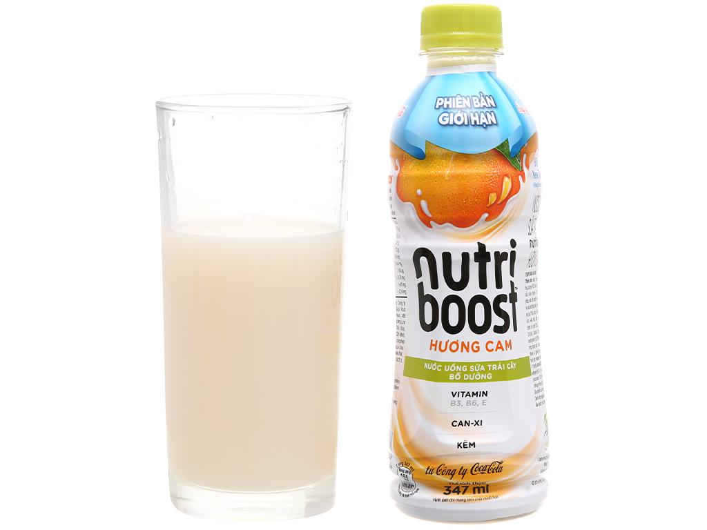Thùng 24 chai sữa trái cây Nutriboost hương cam 297ml 15
