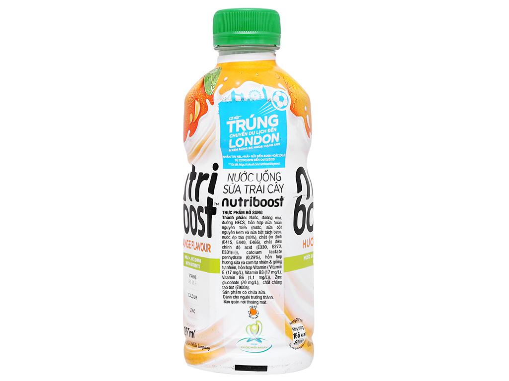 Thùng 24 chai sữa trái cây Nutriboost hương cam 297ml 5
