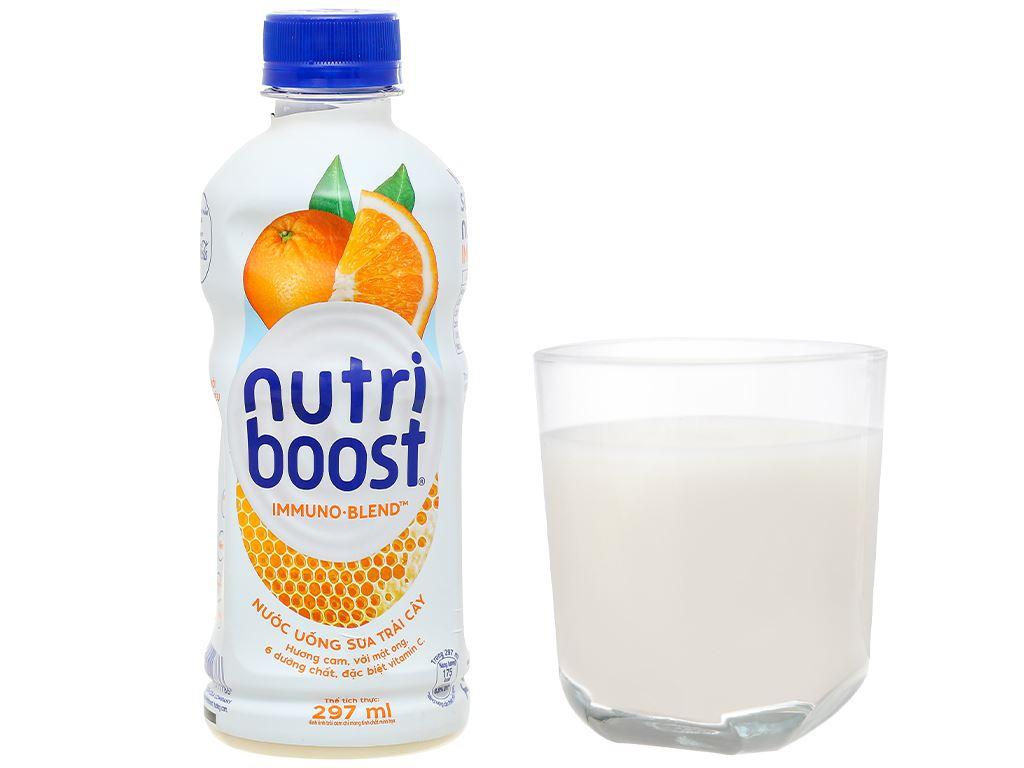 Thùng 24 chai sữa trái cây Nutriboost hương cam 297ml 7