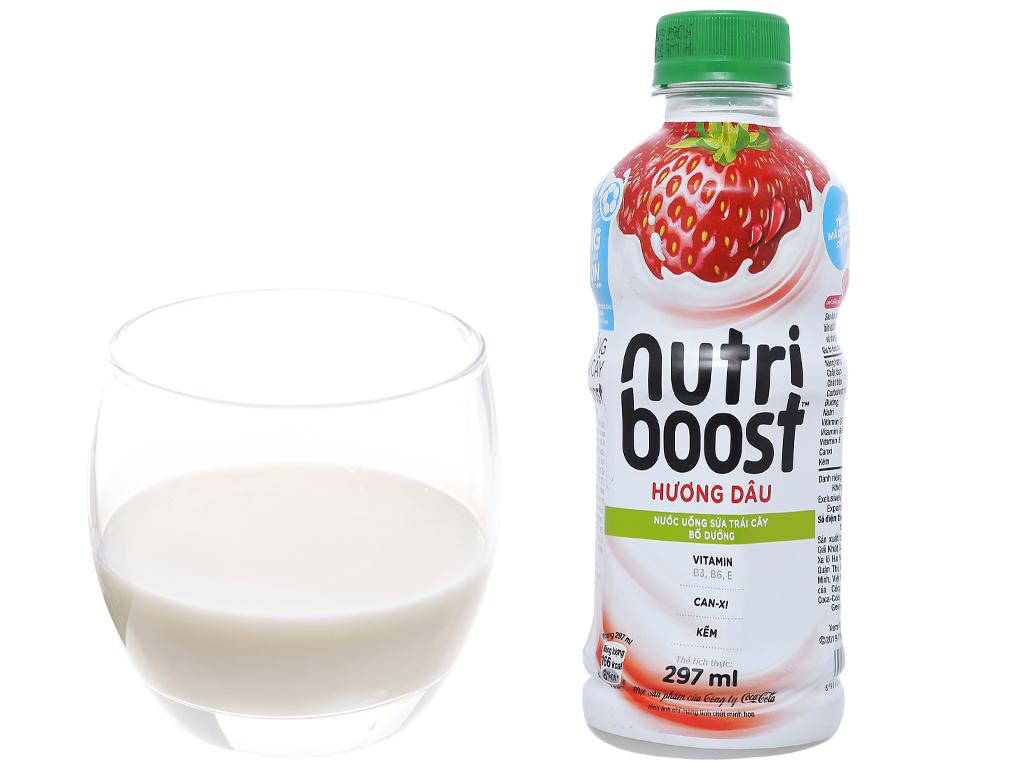 24 chai sữa trái cây Nutriboost hương dâu 297ml 5