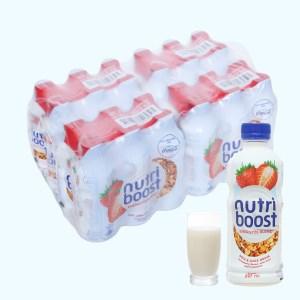 Thùng 24 chai sữa trái cây Nutriboost hương dâu 297ml