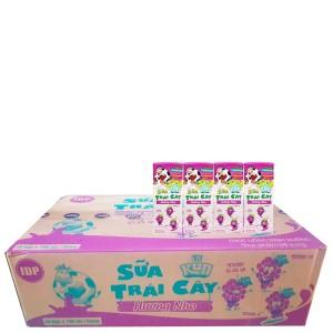 Thùng 48 hộp sữa trái cây LiF Kun hương nho 180ml