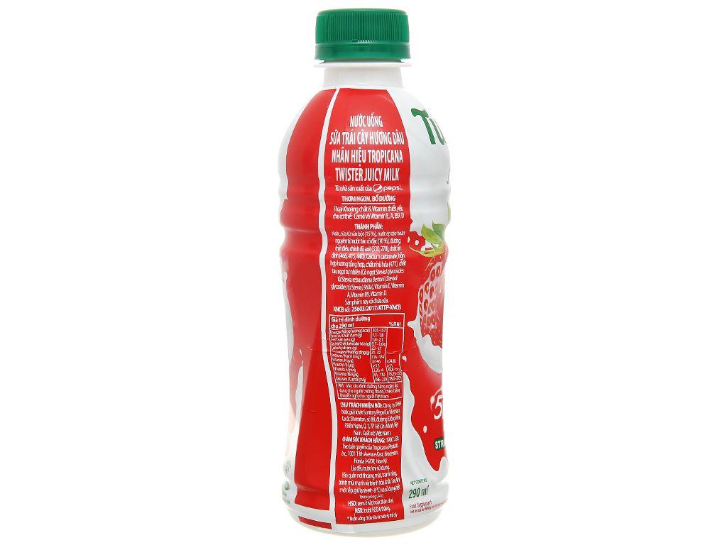 6 chai sữa trái cây Twister hương dâu 290ml 3