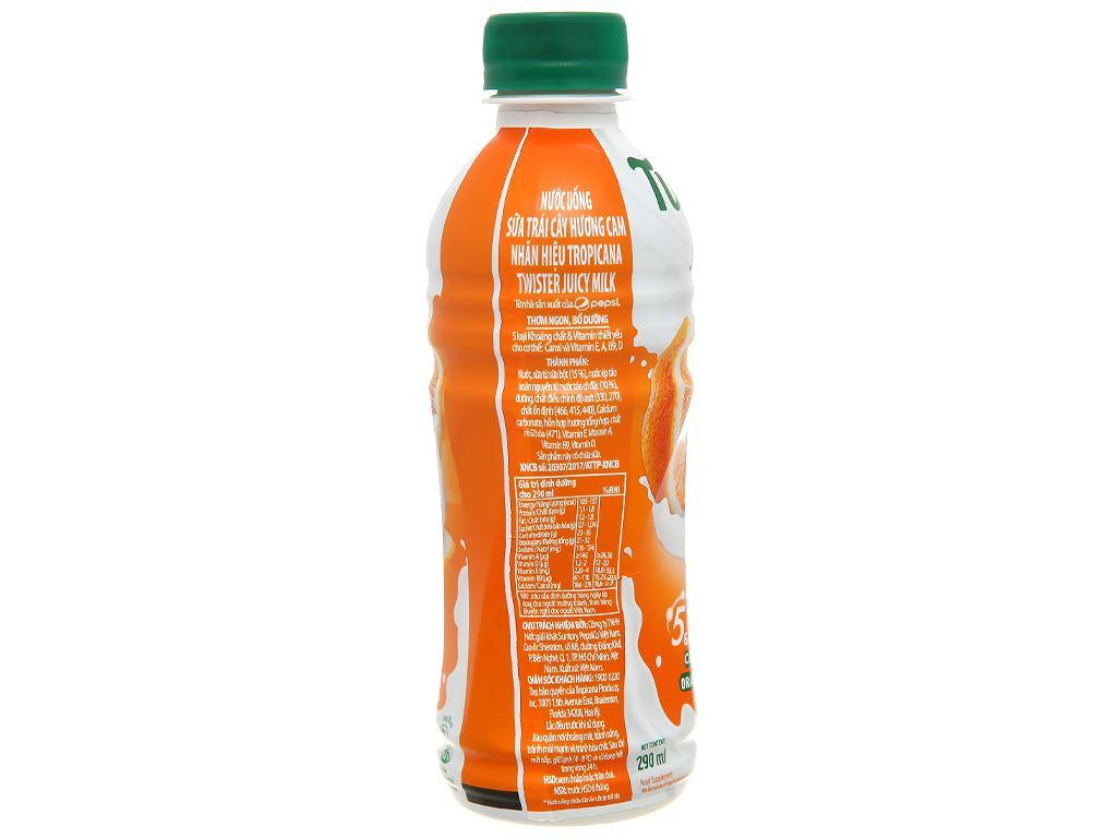 6 chai sữa trái cây Twister hương cam 290ml 3