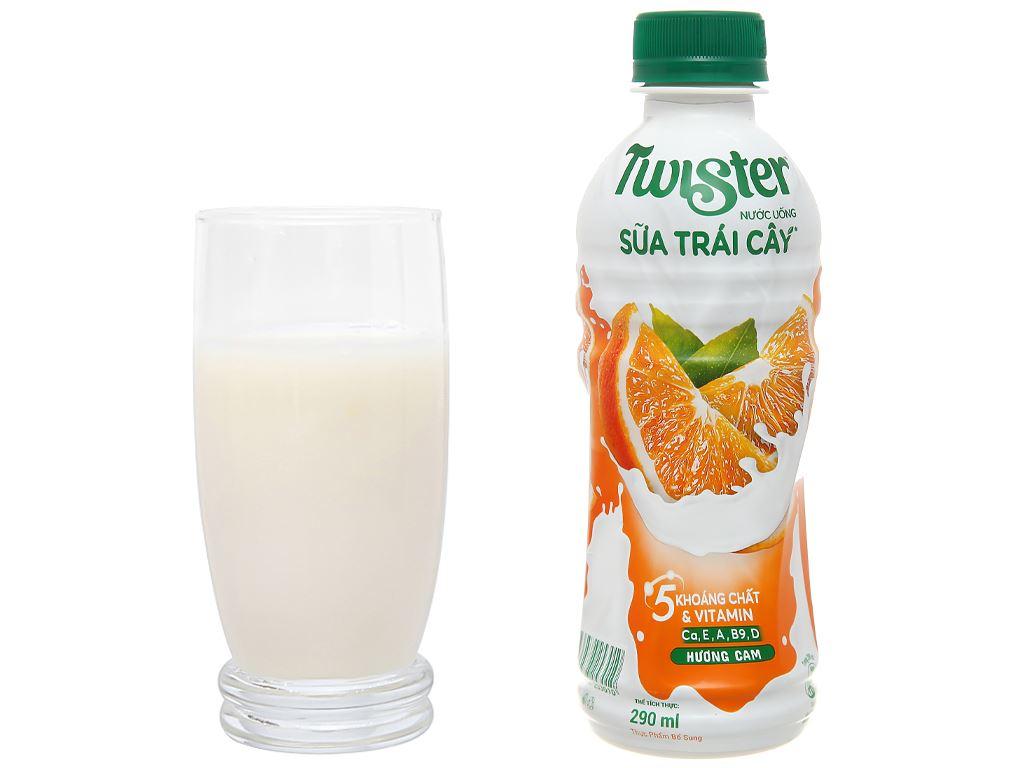 6 chai sữa trái cây Twister hương cam 290ml 5