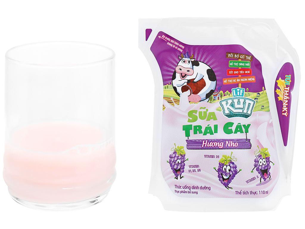 Sữa trái cây LiF Kun hương nho 110ml 5