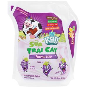 Sữa trái cây LiF Kun hương nho 110ml