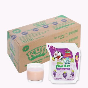 Thùng 24 túi sữa trái cây LiF Kun hương nho 110ml
