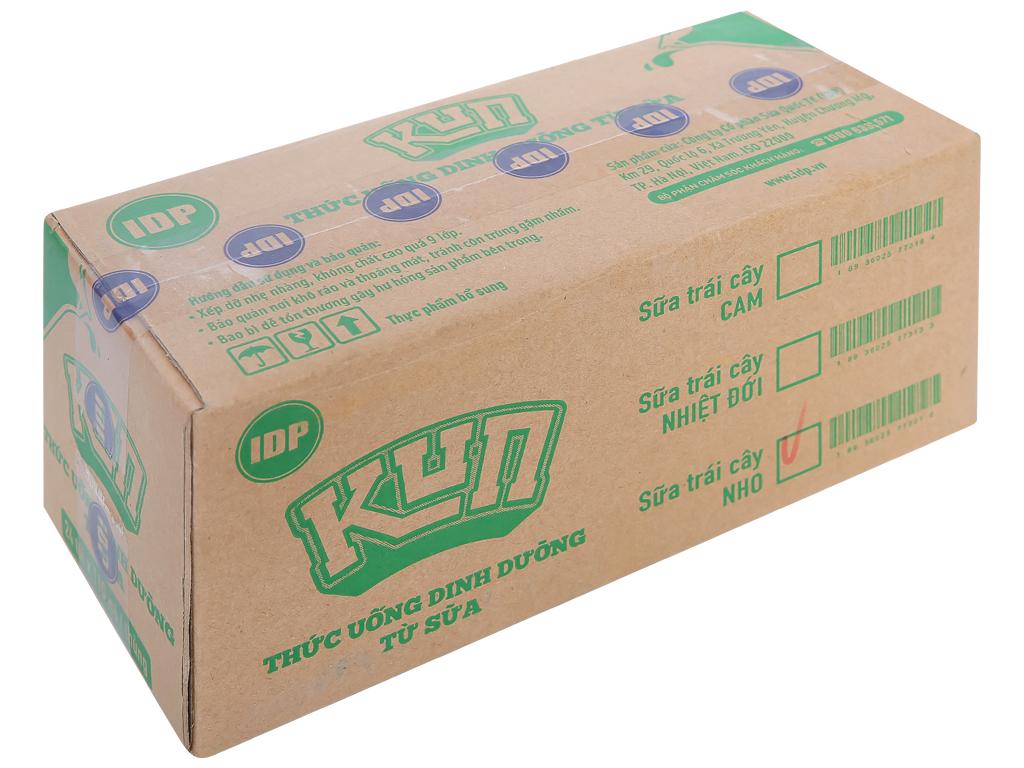Thùng 24 túi sữa trái cây LiF Kun hương nho 110ml 1