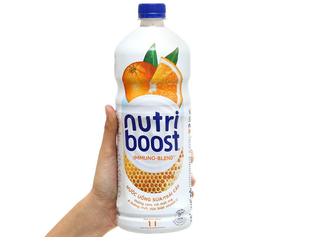 6 chai sữa trái cây Nutriboost hương cam 1 lít 6