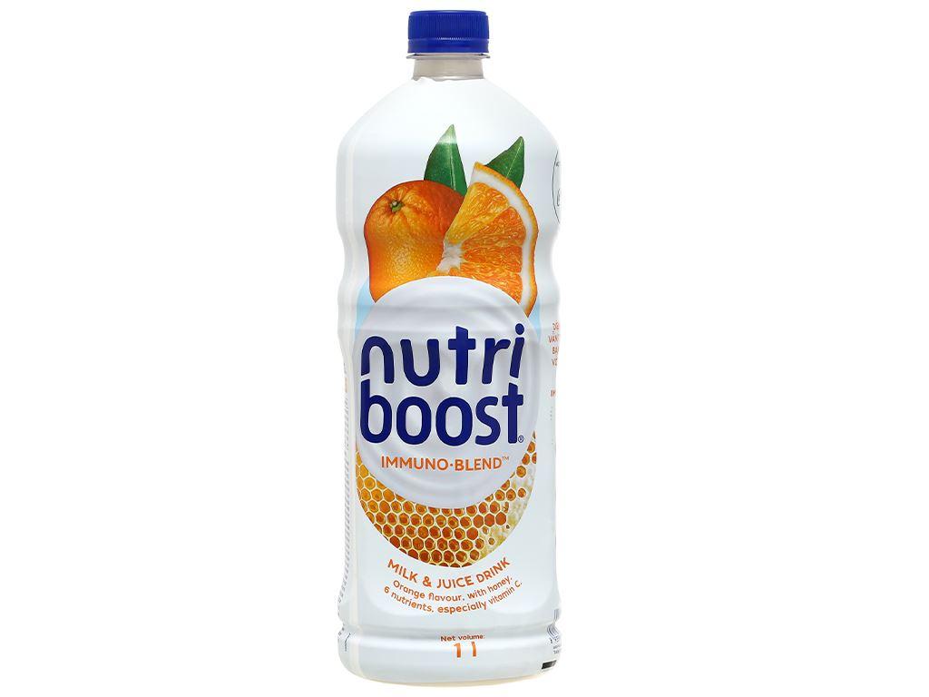 6 chai sữa trái cây Nutriboost hương cam 1 lít 3