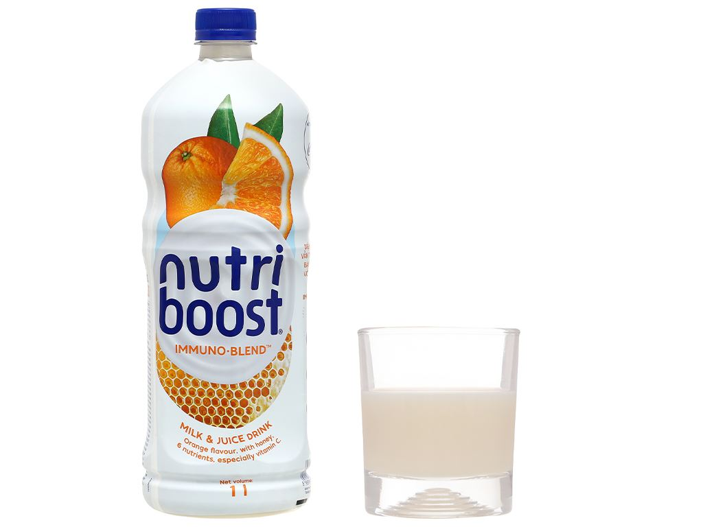 6 chai sữa trái cây Nutriboost hương cam 1 lít 7