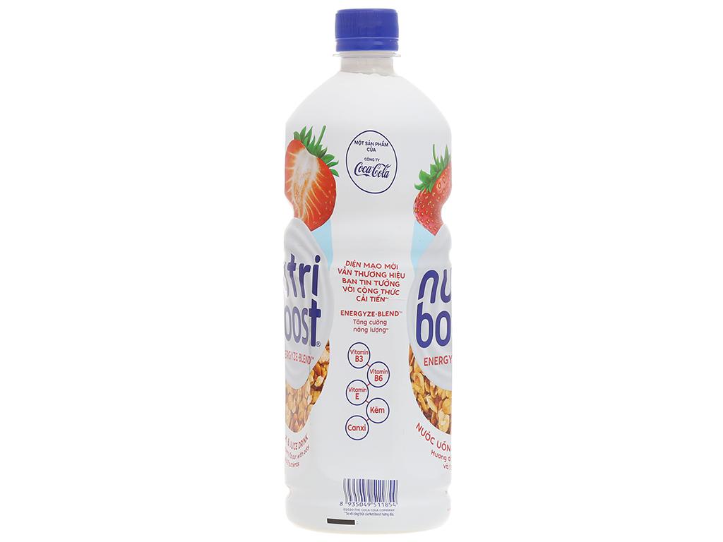 6 chai sữa trái cây Nutriboost hương dâu 1 lít 3