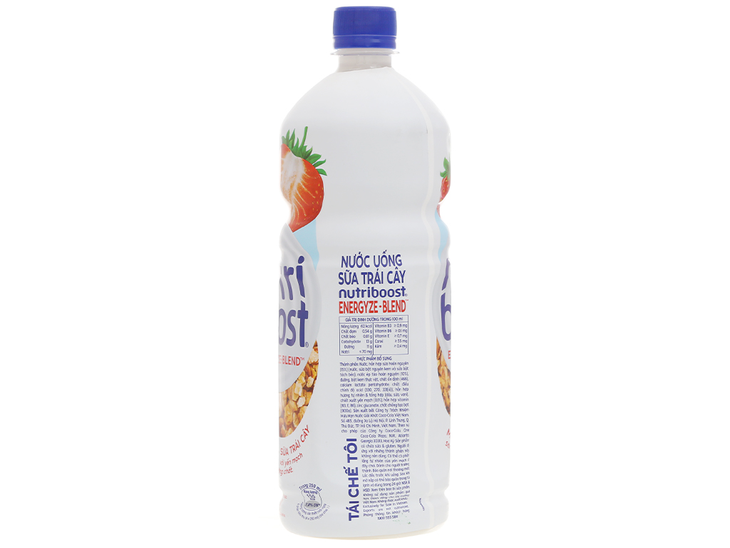 6 chai sữa trái cây Nutriboost hương dâu 1 lít 4