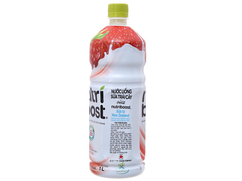 Lốc 6 chai sữa trái cây Nutriboost hương dâu 1 lít 3