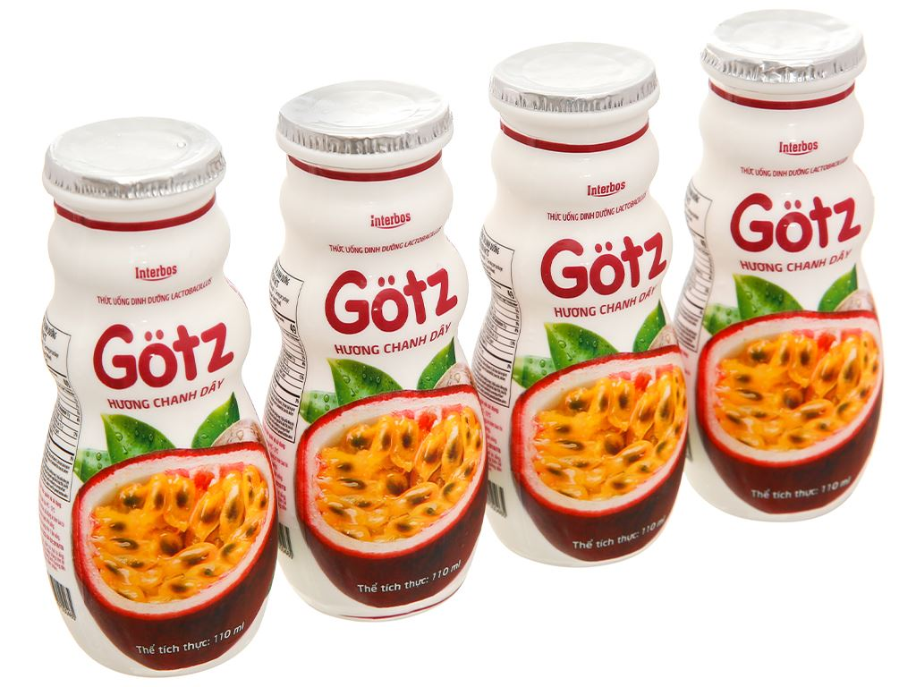 4 chai thức uống dinh dưỡng từ sữa Gotz hương chanh leo 110ml 1