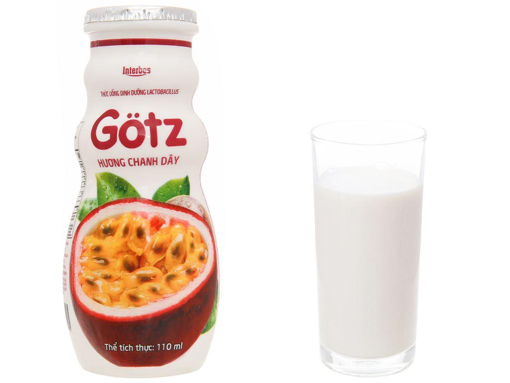 4 chai thức uống dinh dưỡng từ sữa Gotz hương chanh leo 110ml 10
